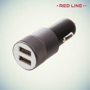 Автомобильная зарядка 2.1А USB Red Line черная