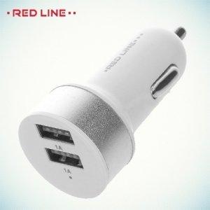 Автомобильная зарядка 2 USB порта 1А белый с серебром
