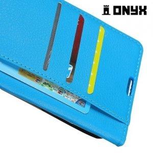 Чехол книжка для Huawei Honor 7X - Голубой