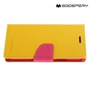 Чехол книжка для iPhone X Mercury Goospery - Желтый
