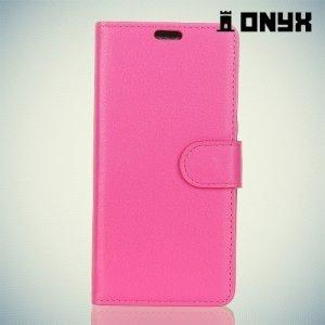 Чехол книжка для Samsung Galaxy A7 2018 SM-A730F - Розовый