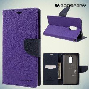 Чехол книжка для Xiaomi Redmi Note 4 / Note 4X Mercury Goospery - Фиолетовый