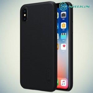 Чехол накладка Nillkin Super Frosted Shield для iPhone X - Черный