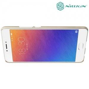 Чехол накладка Nillkin Super Frosted Shield для Meizu Pro 6 Plus - Золотой