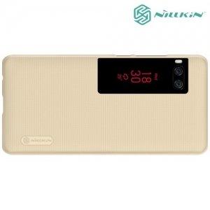 Чехол накладка Nillkin Super Frosted Shield для Meizu Pro 7 Plus - Золотой