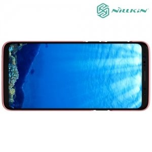 Чехол накладка Nillkin Super Frosted Shield для Samsung Galaxy S9 - розовое золото