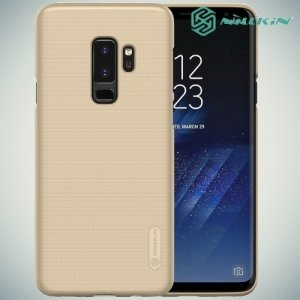 Чехол накладка Nillkin Super Frosted Shield для Samsung Galaxy S9 Plus - Золотой