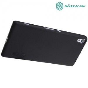 Чехол накладка Nillkin Super Frosted Shield для Sony Xperia XA - Черный