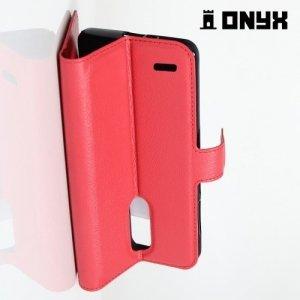 Чехол книжка для LG K10 2017 M250 - Красный