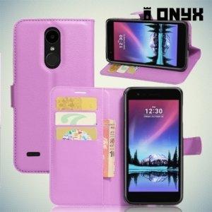 Чехол книжка для LG K10 2017 M250 - Фиолетовый