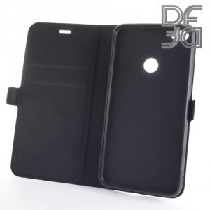 DF флип чехол книжка для Huawei Honor 8 lite - Черный