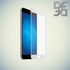 DF Закаленное защитное стекло на весь экран для Meizu M5 / M5s - Белый