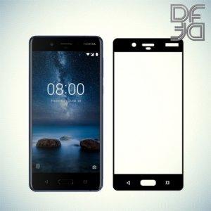 DF Закаленное защитное стекло на весь экран для Nokia 8 - Черный