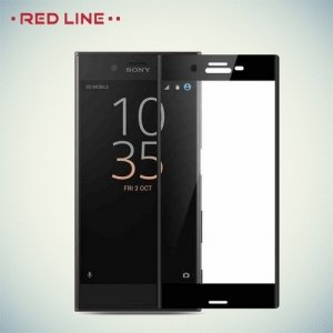 Изогнутое 3D защитное стекло для Sony Xperia XZ1 - Черный