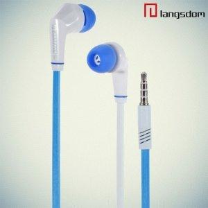 Наушники с микрофоном Langston JD88 - Синие