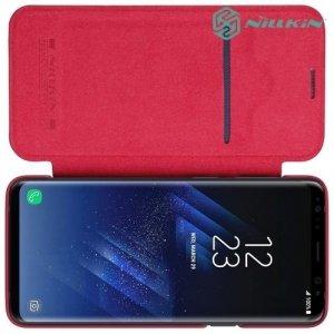 Nillkin Qin Series чехол книжка для Samsung Galaxy S9 Plus - Красный