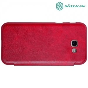 Nillkin Qin Series чехол книжка для Galaxy A5 2017 SM-A520F - Красный