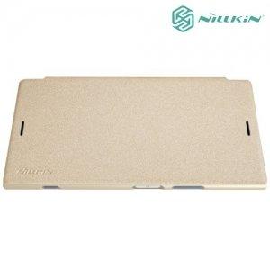 Nillkin ультра тонкий чехол книжка для Sony Xperia XZ1 - Sparkle Case Золотой