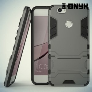 Противоударный гибридный чехол для Huawei nova - Серый