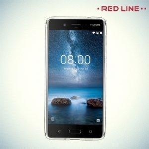Red Line силиконовый чехол для Nokia 8 - Прозрачный