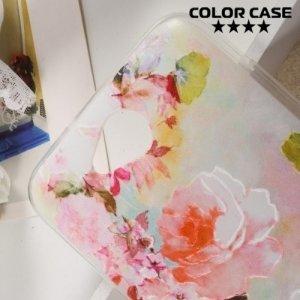 Силиконовый чехол для LG X Power 2 LGM320 - с рисунком Цветы