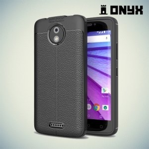 Силиконовый чехол под кожу для Motorola Moto C Plus - Черный