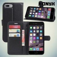 Чехол книжка для iPhone 8 Plus / 7 Plus - Черный