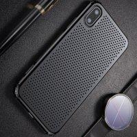 Baseus Small Hole пластиковый дышащий чехол для iPhone X - Черный