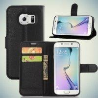 Чехол книжка для Samsung Galaxy S7 Edge - Черный