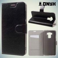 Чехол книжка для Asus ZenFone 3 Max ZC553KL - Черный