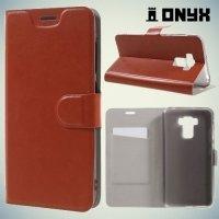 Чехол книжка для Asus ZenFone 3 Max ZC553KL - Коричневый