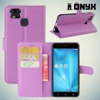 Чехол книжка для Asus ZenFone 3 Zoom ZE553KL - Фиолетовый