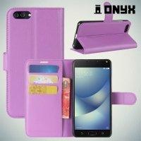Чехол книжка для Asus Zenfone 4 Max ZC520KL - Фиолетовый