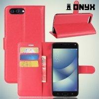 Чехол книжка для ASUS ZenFone 4 Max ZC554KL - Красный