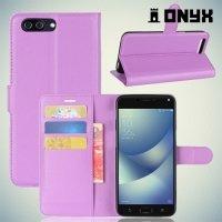 Чехол книжка для ASUS ZenFone 4 Max ZC554KL - Фиолетовый