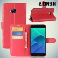 Чехол книжка для Asus Zenfone 4 Selfie Pro ZD552KL - Красный