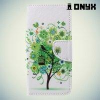Чехол книжка для Asus Zenfone 4 ZE554KL - Дерево счастья