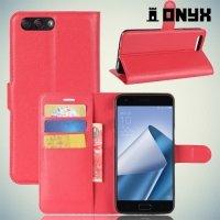 Чехол книжка для Asus Zenfone 4 ZE554KL - Красный