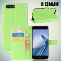 Чехол книжка для Asus Zenfone 4 ZE554KL - Зеленый