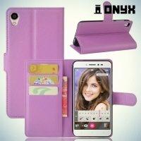 Чехол книжка для Asus Zenfone Live ZB501KL - Фиолетовый