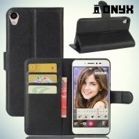 Чехол книжка для Asus Zenfone Live ZB501KL - Черный