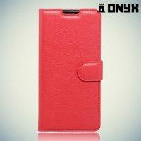 Чехол книжка для ASUS ZenFone Max ZC550KL - Красный