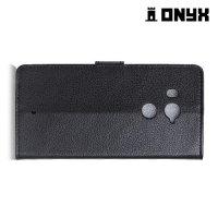 Чехол книжка для HTC U11 Plus - Черный