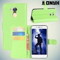 Чехол книжка для Huawei Honor 6A - Зеленый