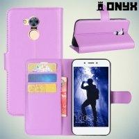 Чехол книжка для Huawei Honor 6A - Фиолетовый