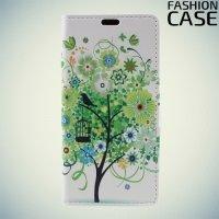 Чехол книжка для Huawei Honor 6A - с рисунком Дерево счастья