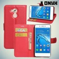 Чехол книжка для Huawei Honor 6C - Красный