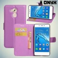 Чехол книжка для Huawei Honor 6C - Фиолетовый