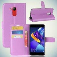 Чехол книжка для Huawei Honor 6C Pro - Фиолетовый