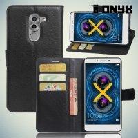 Чехол книжка для Huawei Honor 6x - Черный